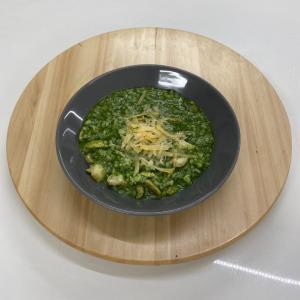 Rizoto spinaci con funghi